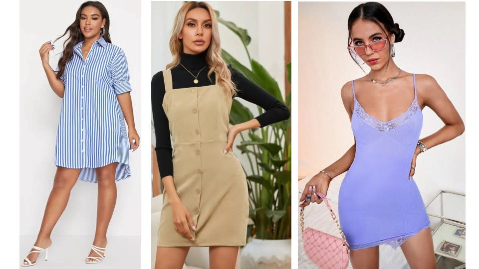 It's time to buy dresses that can be worn today, tomorrow, and through September.