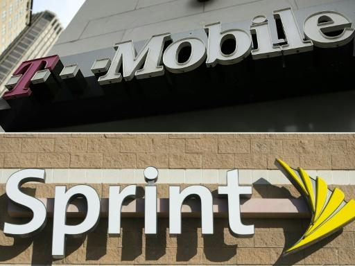 T-Mobile and Sprint, whose logos are shown in a combination photo, had talked of merging since at least 2014