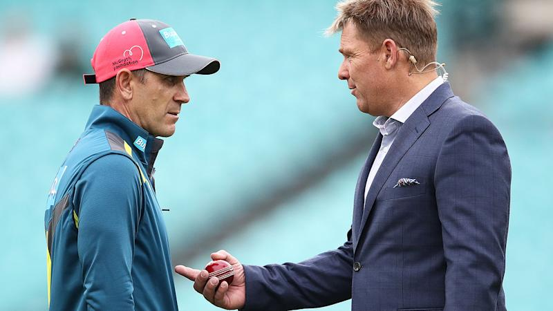 Shane Warne isn't happy with Justin Langer and Australia's Test selectors. (Photo by Ryan Pierse/Getty Images)
