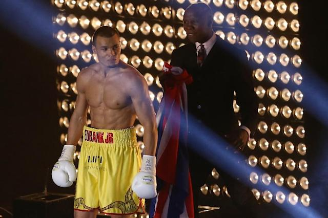 British boxer Chris Eubank Jr (L), pictured in 2015, has been beaten only once in his career, by Billy Joe Saunders in 2014 (AFP Photo/JUSTIN TALLIS)