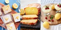 """<p>There's chocolate desserts, and there's strawberry desserts. But then there's lemon desserts (the best kind!). We're talking <a href=""""https://www.delish.com/uk/cooking/recipes/a28867437/lemon-drizzle-cake/"""" rel=""""nofollow noopener"""" target=""""_blank"""" data-ylk=""""slk:Lemon Drizzle Cake"""" class=""""link rapid-noclick-resp"""">Lemon Drizzle Cake</a>, <a href=""""https://www.delish.com/uk/cooking/recipes/a32929704/lemon-meringue-pie-recipe/"""" rel=""""nofollow noopener"""" target=""""_blank"""" data-ylk=""""slk:Lemon Meringue Pie"""" class=""""link rapid-noclick-resp"""">Lemon Meringue Pie</a>, <a href=""""https://www.delish.com/uk/cooking/recipes/a34528975/lemon-mousse/"""" rel=""""nofollow noopener"""" target=""""_blank"""" data-ylk=""""slk:Lemon Mousse"""" class=""""link rapid-noclick-resp"""">Lemon Mousse</a>, <a href=""""https://www.delish.com/uk/cooking/recipes/a34725455/ricotta-pancakes-recipe/"""" rel=""""nofollow noopener"""" target=""""_blank"""" data-ylk=""""slk:Lemon Ricotta Pancakes"""" class=""""link rapid-noclick-resp"""">Lemon Ricotta Pancakes</a> and <a href=""""https://www.delish.com/uk/cooking/recipes/a32373802/lemon-butter-cookies-recipe/"""" rel=""""nofollow noopener"""" target=""""_blank"""" data-ylk=""""slk:Lemon Butter Cookies"""" class=""""link rapid-noclick-resp"""">Lemon Butter Cookies</a>! Yep, the list goes on and on. For us, lemon is a go-to flavour when it comes to cupcakes, cheesecake bars and more. Which is why you'll notice we have loads of lemon dessert recipes on offer. We just can't get enough of it! Often easy-to-make (sometimes even no-bake), and even easier to gobble up in one sitting, check out some of our favourite lemon <a href=""""https://www.delish.com/uk/cooking/recipes/g33631981/easy-desserts/"""" rel=""""nofollow noopener"""" target=""""_blank"""" data-ylk=""""slk:desserts"""" class=""""link rapid-noclick-resp"""">desserts</a> now. </p>"""