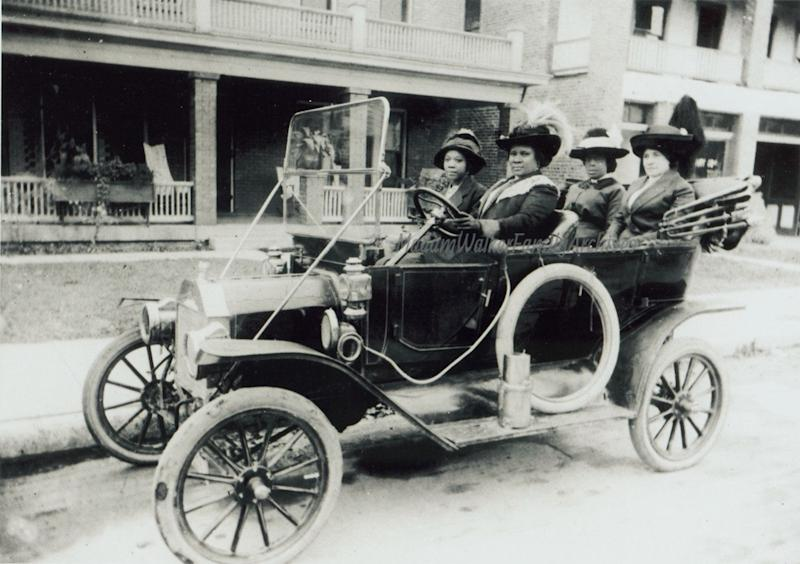 Madam C.J. Walker was one of the few black women who drove in the early 20th century. She was the first self-made black American woman millionaire. Credit: Madam Walker Family Archives/ A'Lelia Bundles