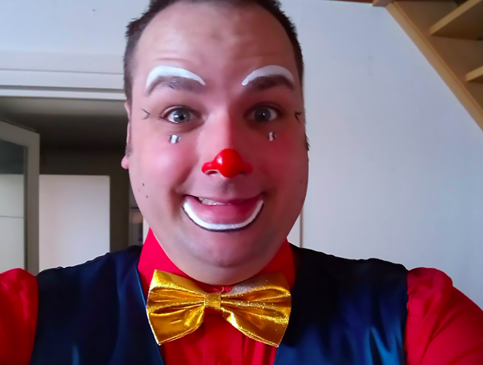 <em>Belgian clown Kevin Lapeire is accused of murdering his girlfriend in front of her children (CEN)</em>