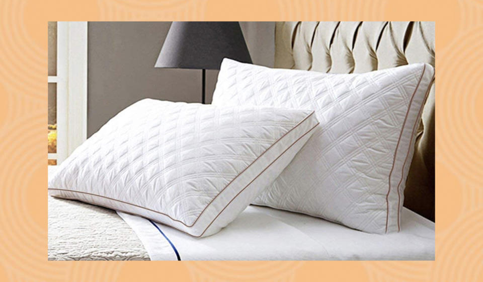 With pillows this stylish, soft and supportive, either side is the cool side. (Photo: Amazon)