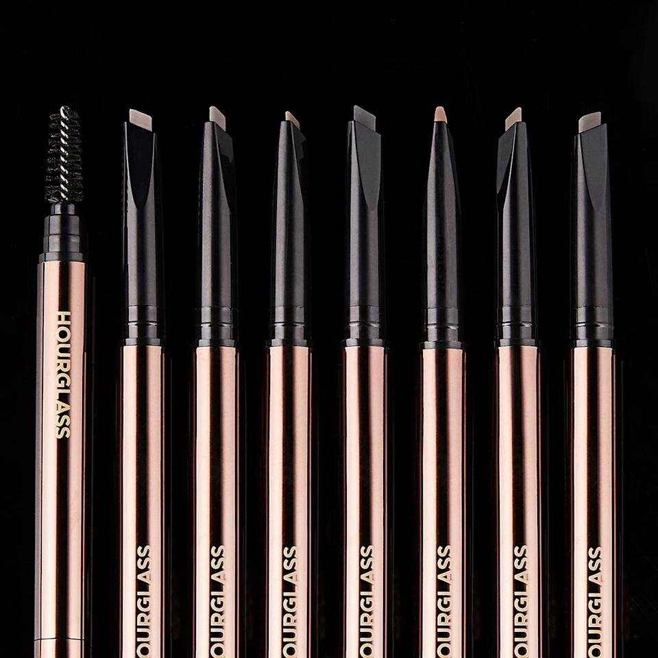 <p>The mechanical <span>Hourglass Arch Brow Sculpting Pencil</span> ($34) has a blend of powder and wax to ensure your brows stay in place and filled in throughout the day. You can use the edge of the flat tip for finer strokes or turn it to get thicker ones.</p>