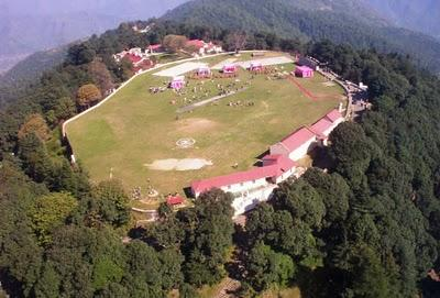 <p>Chail Cricket Ground in Himachal Pradesh is located 2,444 metres above sea level making it the highest cricket ground in the world. The Maharaja of Patiala, who made Chail his summer capital, constructed the ground in 1893. Situated high on a hill, it is surrounded by lush forests and verdant valleys, making it one of the most scenic grounds in the country. At the moment, the ground is used by Chail's military school.<br /> Photograph: Lt. Col. Dilbagh Singh Grewal/Creative Commons </p>