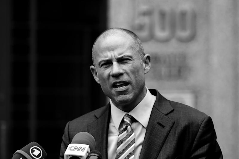 NEW YORK, NY - MAY 30: Michael Avenatti, lawyer of adult-film actress Stormy Daniels speaks to media as he exits the United States District Court Southern District of New York on May 30, 2018 in New York City. According to a filing submitted to the court Tuesday night by special master Barbara Jones, federal prosecutors investigating Michael Cohen, a longtime personal lawyer and confidante for President Donald Trump, are set to receive 1 million files from three of his cellphones that were seized last month. (Photo by Eduardo Munoz Alvarez/Getty Images)