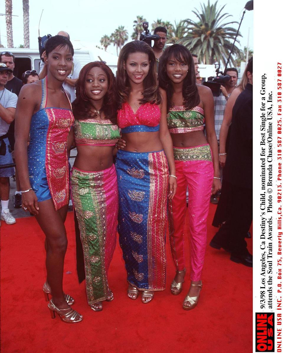 <p>There is, quite possibly, nothing more amusing than looking back at the outrageous coordinated outfits Destiny's Child wore to award shows. We love that dedication. <br></p>