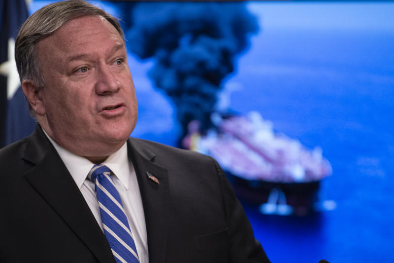 Secretary of State Mike Pompeo delivers remarks to the media at the State Department in Washington, D.C., on June 13, 2019. (Photo: Eric Baradat/AFP/Getty Images)