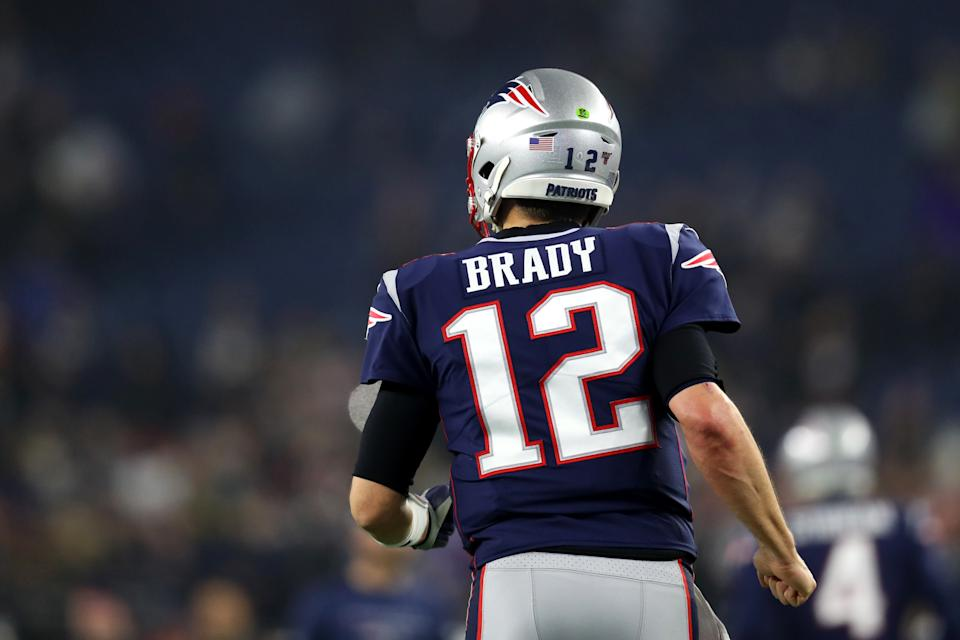 Tom Brady has left New England. Does that affect your grade of the Patriots' offseason moves? (Photo by Maddie Meyer/Getty Images)