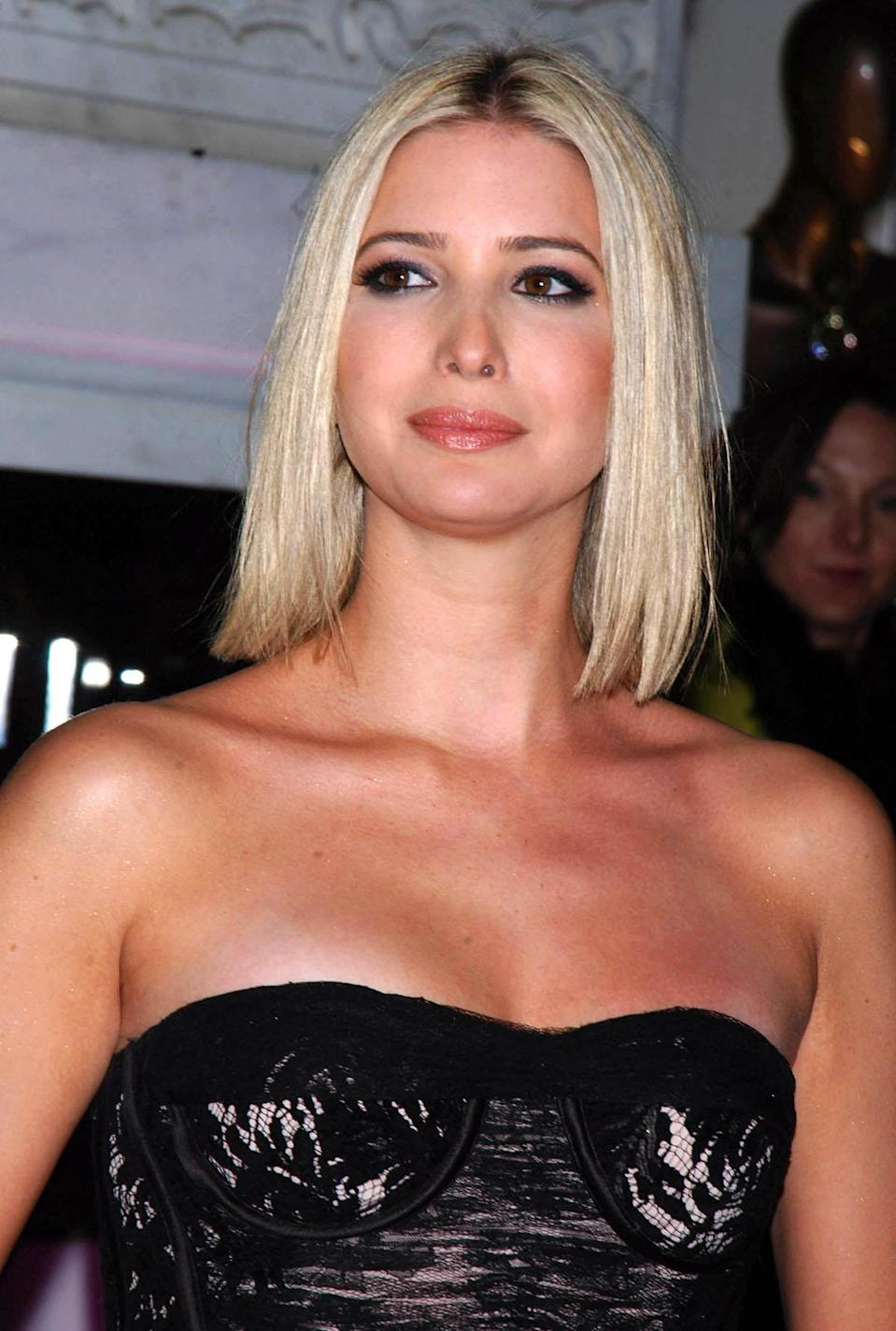 <p>Ivanka grows out her short cut into a shoulder-grazing lob with a middle part. (Photo: AP Images) </p>