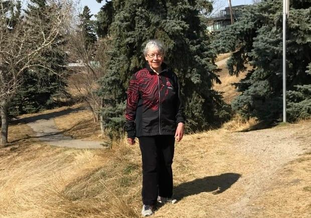 Jean MacNaughton says she walks solo much of the time but does meet some friends her age once a week who join in the fun.