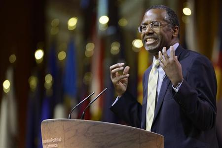 Ben Carson speaks at the Conservative Political Action Conference in Oxon Hill