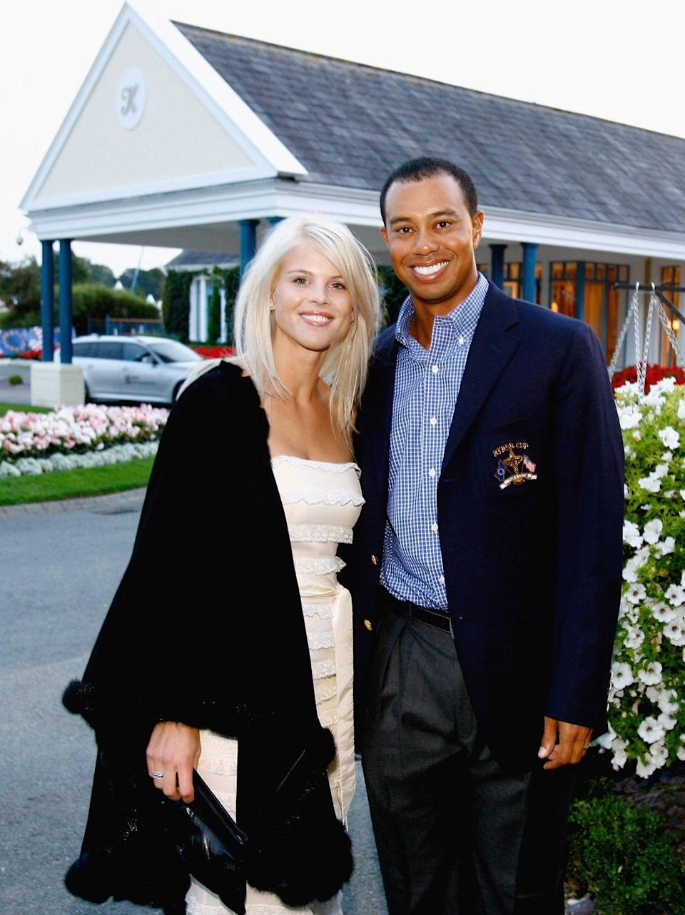 "<p>Before their headline-making divorce in 2010, Tiger Woods and Elin Nordegren had a $1.5 million sunset <a href=""https://www.latimes.com/archives/la-xpm-2004-oct-07-sp-tiger7-story.html#:~:text=Tiger%20Woods%20married%20Swedish%20model,ceremony%20reportedly%20cost%20%241.5%20million."" rel=""nofollow noopener"" target=""_blank"" data-ylk=""slk:ceremony"" class=""link rapid-noclick-resp"">ceremony</a> at an exclusive resort in Barbados. The pair rented out the entire hotel (around 200 rooms, NBD) and even had 500 roses imported for the nuptials. </p>"