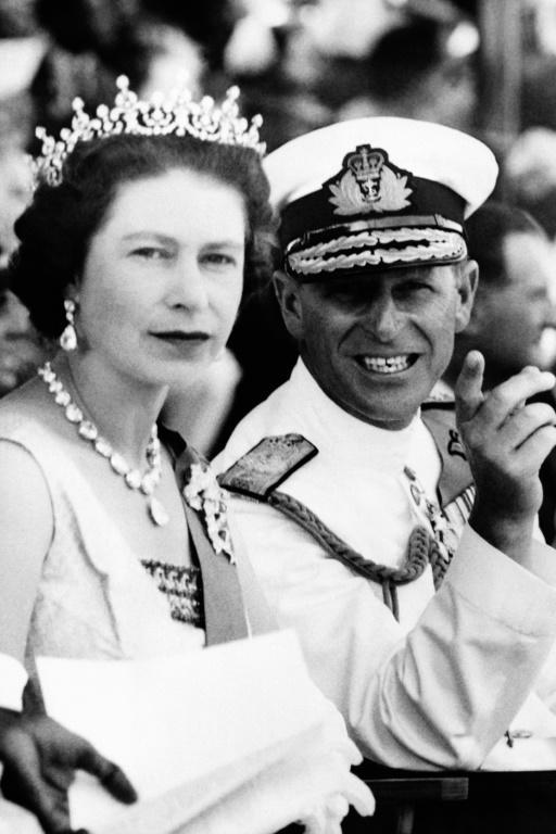 Queen Elizabeth II and Prince Philip, during a visit to Sierra Leone in 1961