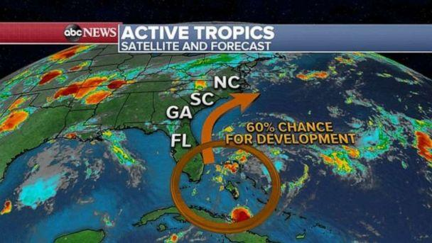 PHOTO: There is a 60% chance for development of a tropical system. (ABC News)