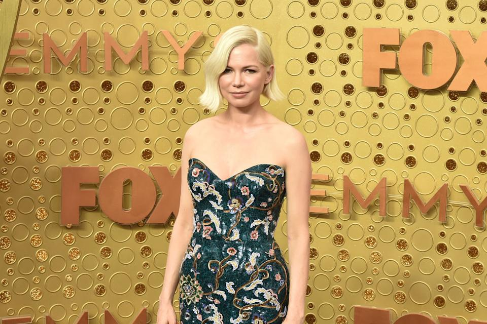 Michelle Williams attends the Emmy Awards at Microsoft Theater on Sept. 22 in L.A. (Photo: David Crotty/Patrick McMullan via Getty Images)