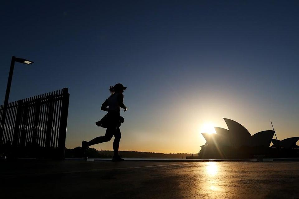 A person runs in Sydney  (Getty Images)