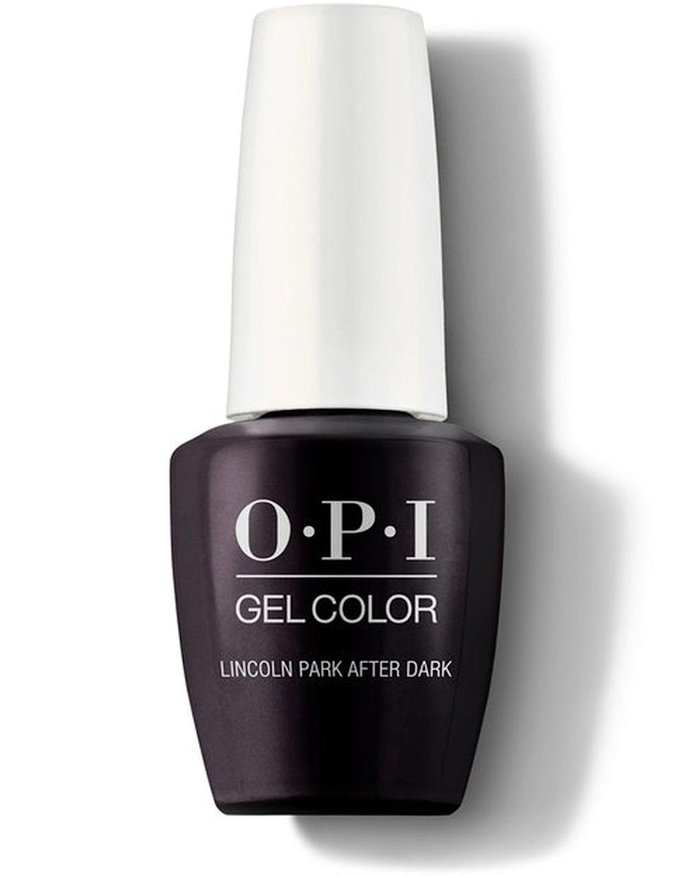 "<h3>OPI Lincoln Park After Dark</h3><br>Where midnight meets dark purple is where you'll find <a href=""https://www.refinery29.com/en-us/best-opi-nail-polish-colors#slide-5"" rel=""nofollow noopener"" target=""_blank"" data-ylk=""slk:OPI's Lincoln Park After Dark"" class=""link rapid-noclick-resp"">OPI's Lincoln Park After Dark</a>, a not-quite-black shade of aubergine. It's a salon staple and nearly every nail artist we've interviewed has a bottle on hand.<br><br><strong>OPI</strong> OPI Lincoln Park After Dark, $, available at <a href=""https://go.skimresources.com/?id=30283X879131&url=https%3A%2F%2Fwww.opi.com%2Fnail-products%2Fnail-polish%2Flincoln-park-after-dark"" rel=""nofollow noopener"" target=""_blank"" data-ylk=""slk:OPI"" class=""link rapid-noclick-resp"">OPI</a>"