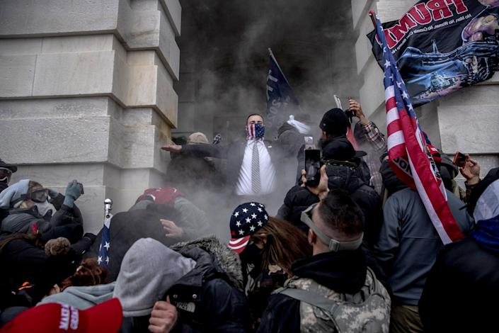 Protests As Joint Session Of Congress Confirms Presidential Election Result (Victor J. Blue / Bloomberg via Getty Images)
