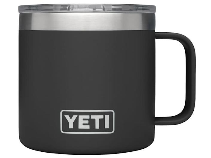 "We found this YETI Rambler Mug for $25 at <a href=""https://fave.co/3gXO5ys"" rel=""nofollow noopener"" target=""_blank"" data-ylk=""slk:REI"" class=""link rapid-noclick-resp"">REI</a>."