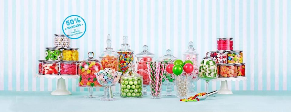 """<p>candyclub.com</p><p><a href=""""https://go.redirectingat.com?id=74968X1596630&url=https%3A%2F%2Fwww.candyclub.com&sref=https%3A%2F%2Fwww.redbookmag.com%2Flife%2Fg34730157%2Fbest-subscription-boxes%2F"""" rel=""""nofollow noopener"""" target=""""_blank"""" data-ylk=""""slk:Shop Now"""" class=""""link rapid-noclick-resp"""">Shop Now</a></p><p>Give the people what they want with this monthly box. Choose between three or six cups of candy (plus an extra bonus """"splash""""), featuring everything from chocolate-covered almonds to sour gummy worms. There are even name brands in the mix, so don't be surprised to find a box packed with mini Reese's or Hershey's Kisses.</p><p><em>Starting from $29.99/month.</em></p>"""