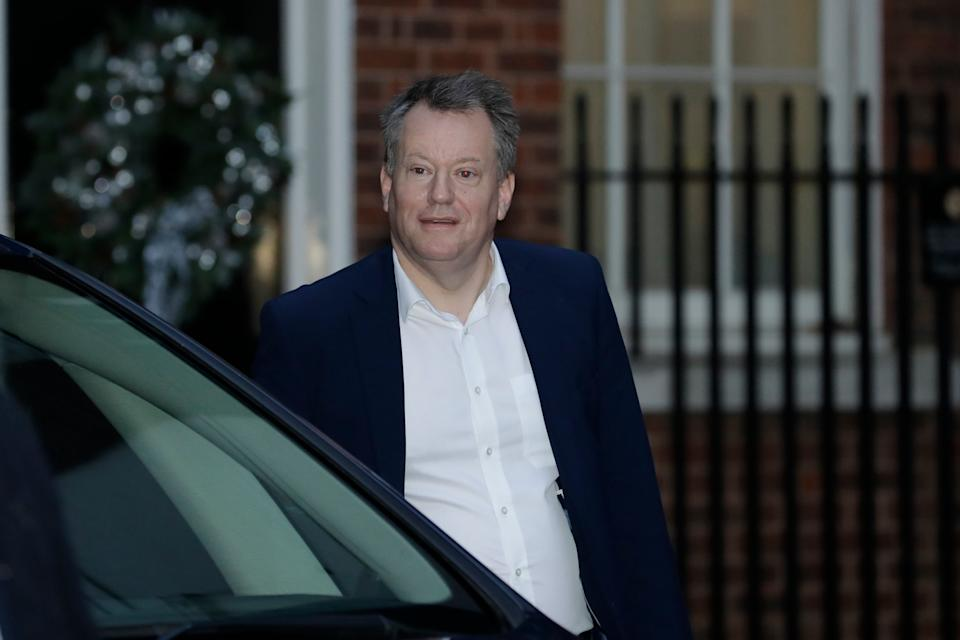 <p>UK Chief Brexit negotiator David Frost walks before getting in the same car that British Prime Minister Boris Johnson</p>AP