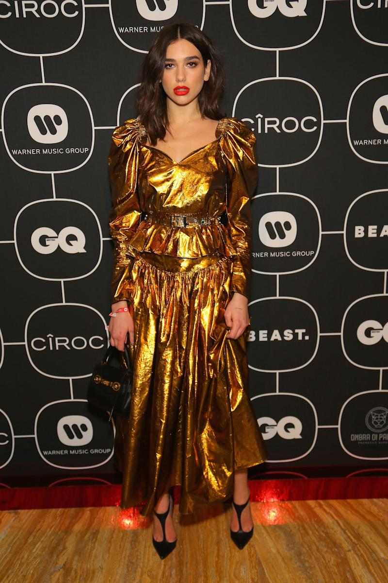 Dua Lipa What: Stella McCartney Where: At the Warner Music Group and Ciroc Brit Awards after-party, London When: February 21, 2018