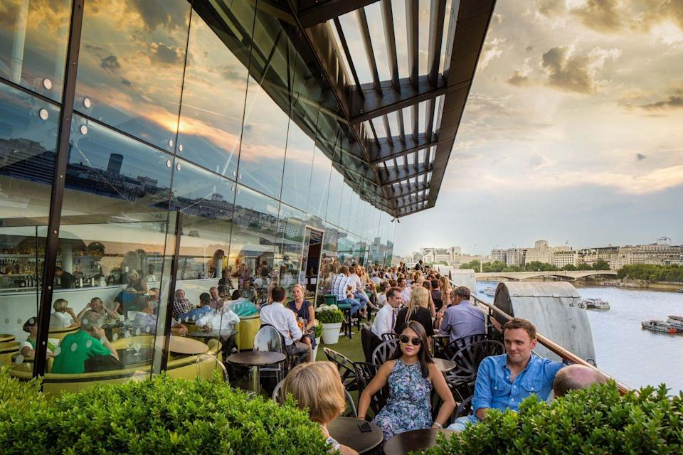 "<p>Another iconic London venue is excited to welcome customers back; the<a href=""https://www.harveynichols.com/restaurant/the-oxo-tower/bar/"" rel=""nofollow noopener"" target=""_blank"" data-ylk=""slk:Oxo Tower"" class=""link rapid-noclick-resp""> Oxo Tower</a>. For some of the best views in central London, customers can book the venue's terrace bar for coffee, afternoon tea or its six-course tasting menu.</p>"