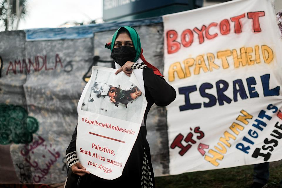 A pro-Palestinian supporter