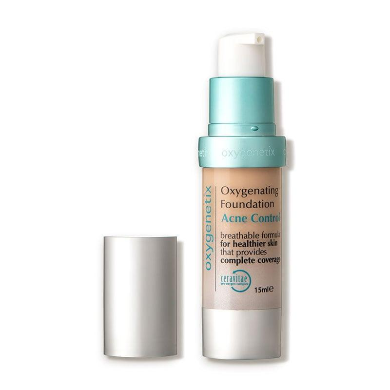 """<p>""""The <a href=""""https://www.popsugar.com/buy/Oxygenetix-Oxygenating-Foundation-Acne-Control-90345?p_name=Oxygenetix%20Oxygenating%20Foundation%20Acne%20Control&retailer=dermstore.com&pid=90345&price=76&evar1=bella%3Aus&evar9=43881299&evar98=https%3A%2F%2Fwww.popsugar.com%2Fbeauty%2Fphoto-gallery%2F43881299%2Fimage%2F47576648%2FOxygenetix-Oxygenating-Foundation-Acne-Control&list1=makeup%2Cbeauty%20products%2Cacne%2Cbeauty%20shopping%2Cbeauty%20tips%2Cbeauty%20interview%2Cbeauty%20news%2Cskin%20care&prop13=mobile&pdata=1"""" class=""""link rapid-noclick-resp"""" rel=""""nofollow noopener"""" target=""""_blank"""" data-ylk=""""slk:Oxygenetix Oxygenating Foundation Acne Control"""">Oxygenetix Oxygenating Foundation Acne Control</a> ($76) not only offers great coverage, but also treats your skin! Its elegant formulation delivers breathable, full coverage through the use of Ceravitae, which attracts oxygen and supports healthier, stronger skin. In addition, it contains two percent salicylic acid, which helps fights off acne-producing bacteria."""" - Dr. Idriss</p>"""