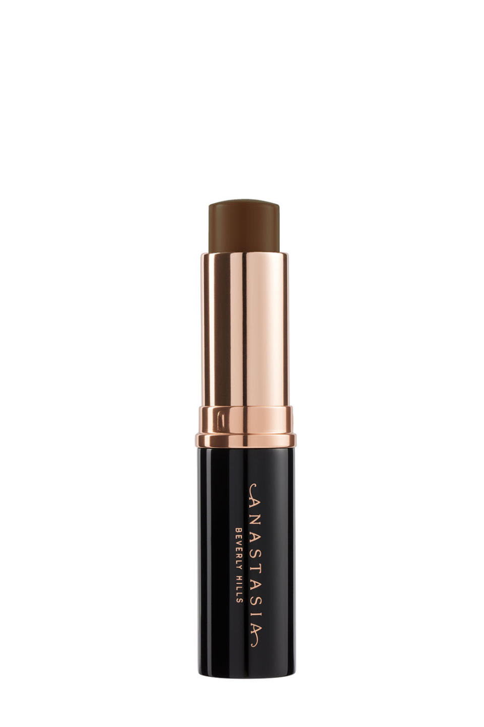 """<p>The president of Anastasia Beverly Hills, Claudia Soare, said in a release: """"The struggle of finding colors that match darker skin tones is a recurring theme when I'm meeting models. I really wanted to match everyone."""" Effectively, this highly pigmented stick foundation has about four categories (medium, medium tan, dark, and deep), with 16 shades that cater to the needs and wide range of brown skin tones. Additionally, it effortlessly glides on and can be used to help highlight and contour. $25, <a rel=""""nofollow noopener"""" href=""""http://www.anastasiabeverlyhills.com/stick-foundation.html"""" target=""""_blank"""" data-ylk=""""slk:AnastasiaBeverlyHills.com"""" class=""""link rapid-noclick-resp"""">AnastasiaBeverlyHills.com</a>. </p>"""