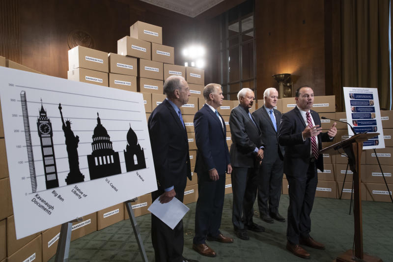Republicans won't budge on Kavanaugh documents amid Dem accusations of hiding records