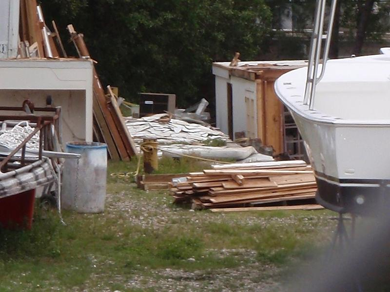 """This undated photo provided by Fane Lozman shows his dismantled home in Riviera Beach, Fla. Court documents refer to it as """"that certain unnamed gray, two-story vessel approximately 57 feet in length."""" To Lozman, it was a floating Florida home never intended to sail the seas. Now a long-running dispute over exactly what the structure was has landed before the U.S. Supreme Court. (AP Photo/Fane Lozman)"""