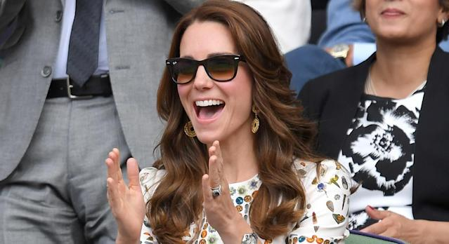The Duchess of Cambridge has sported Ray-Ban Wayfarer's over the years, and now they are on sale on Amazon. (Getty Images)