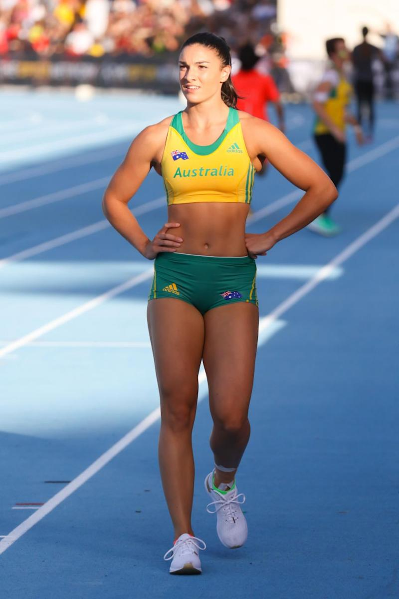 Michelle Jenneke is rumoured to be the next Bachelorette, and is best known for representing Australia on track. Source: Getty