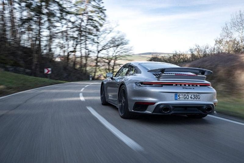 911 Turbo s rear