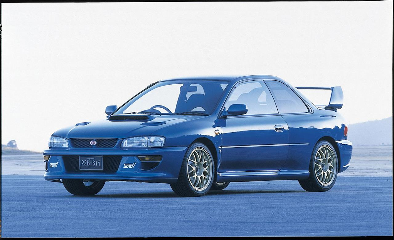 "<p>Okay, we're already lying to you. The STI 22B isn't an S-car by name-but it might as well be known as S-prime, or S-car ground zero. Built to commemorate Subaru's three consecutive World Rally Constructor's Championships in 1995, 1996, and 1997, the Impreza-based 22B sports a turbocharged 2.2-liter flat-four beneath its stubby hood. In keeping with the so-called ""gentleman's agreement"" between car manufacturers in Japan at the time, the 22B's engine is capped to just 276 horsepower. (No automaker could, under this arrangement, offer any more horsepower than that.) Just as we find in today's S209, the 22B's intercooler features a water sprayer, while the body sprouts oh-so-good fender box flares, and the chassis is completely retuned. Only 400 22Bs were made. A fun fact: ""22B"" is hexadecimal (a positional numerical system) for ""555,"" which also happens to be a cigarette brand that sponsored Subaru at the time. The brand's backing and livery is where Subaru's now-famous World-Rally Blue color sprang from; you'll recognize World Rally Blue-it's been available on practically every STI product Subaru's offered since.<br></p>"