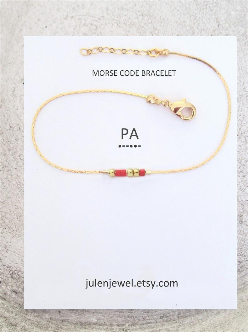 """<p><strong>JulenJewel</strong></p><p>etsy.com</p><p><strong>$24.00</strong></p><p><a href=""""https://go.redirectingat.com?id=74968X1596630&url=https%3A%2F%2Fwww.etsy.com%2Flisting%2F732837680%2Fcustom-message-gift-morse-code-bracelet&sref=https%3A%2F%2Fwww.harpersbazaar.com%2Ffashion%2Ftrends%2Fg34435299%2Fbest-custom-jewelry%2F"""" rel=""""nofollow noopener"""" target=""""_blank"""" data-ylk=""""slk:Shop Now"""" class=""""link rapid-noclick-resp"""">Shop Now</a></p><p>For $24, this customizable Etsy find (from a seller who boasts 15k sales and counting) is a steal. Shoppers can choose to have any name or word spelled out in morse code, plus the color of the beads. What makes this an especially fun gift is that the message will be known only to you and the recipient. </p>"""
