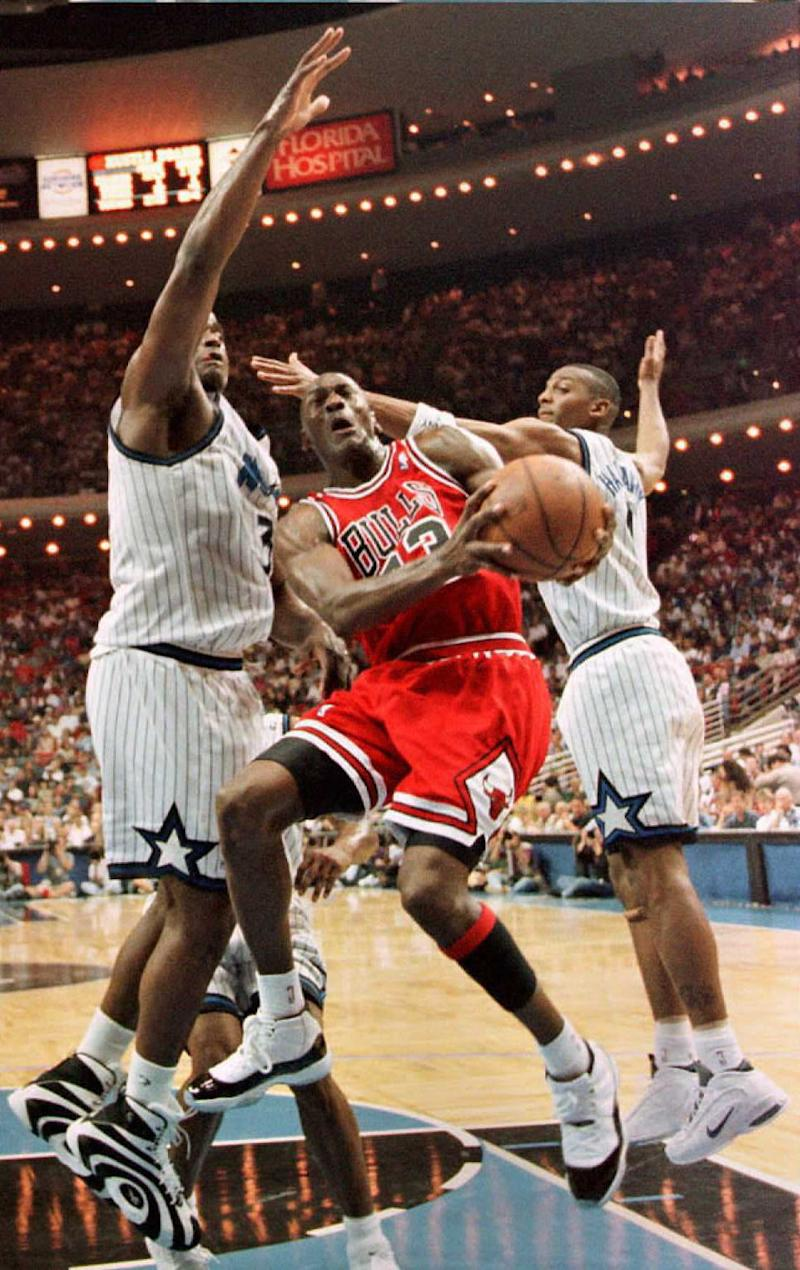 Shaq and Penny got the best of MJ, then took over after he left. (Andi Marks/AFP via Getty Images)