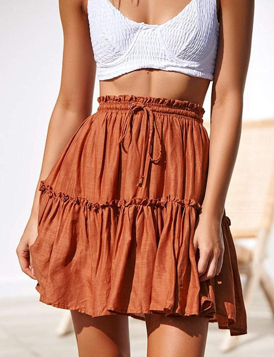 <p>Spend hot days in this lightweight <span>Relipop Flared Short Skirt</span> ($16-$20).</p>