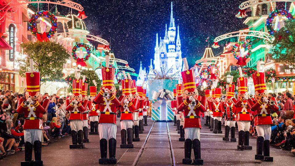 Toy soldiers parade down Main Street, U.
