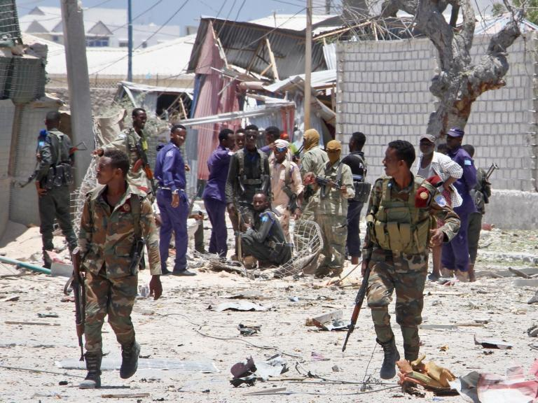 Somalia attack: Minister among nine killed after extremists detonate car bomb and storm government building