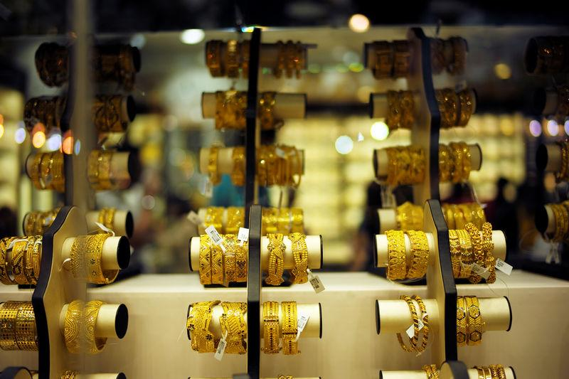 Gold bangles are displayed at a gold shop in Gold Souq in Dubai, United Arab Emirates, December 30, 2018. REUTERS/ Hamad I Mohammed