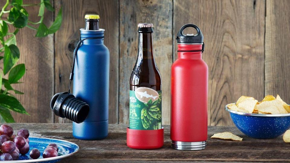 """<h3>The Kick-Back-And-Relax Dad</h3><p>He's less of a wine and whiskey guy, and truly enjoys an ice-cold microbrew. Let him have his cake and eat it too with this nifty insulated beer bottle holder invention by maker Matt Campbell. It'll keep dad's brew cool and covert for outdoor enjoyment at the beach or on the patio.</p><br><br><strong>Matt Campbell</strong> Bottle Keeper, $34.95, available at <a href=""""https://www.thegrommet.com/bottlekeeper"""" rel=""""nofollow noopener"""" target=""""_blank"""" data-ylk=""""slk:The Grommet"""" class=""""link rapid-noclick-resp"""">The Grommet</a>"""