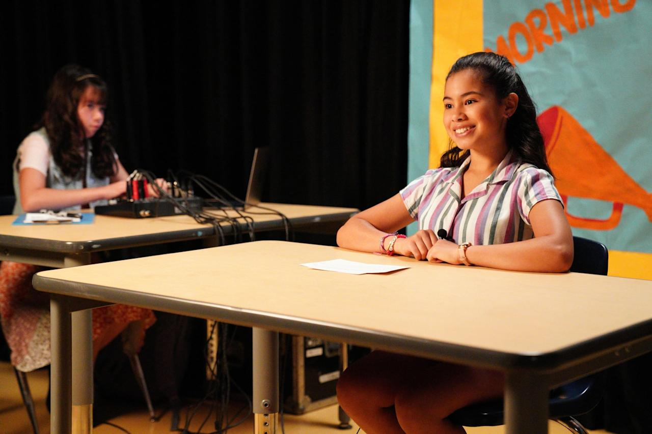 """<p>This Gina Rodriguez-produced comedy series tells the story of Elena, an ambitious 12-year-old with dreams of becoming the future president of the United States. Rodriguez also appears in the series as an adult version of Elena who - spoiler alert! - actually ends up undertaking a presidential campaign in the future. This one is <a href=""""http://www.hollywoodreporter.com/live-feed/diary-a-future-president-renewed-at-disney-1296448"""" target=""""_blank"""" class=""""ga-track"""" data-ga-category=""""Related"""" data-ga-label=""""http://www.hollywoodreporter.com/live-feed/diary-a-future-president-renewed-at-disney-1296448"""" data-ga-action=""""In-Line Links"""">coming back for a second season</a>, so we'll be getting even more of this adorable series. </p> <p><product href=""""http://www.disneyplus.com/series/diary-of-a-future-president/720sXQpA29Cl"""" target=""""_blank"""" class=""""ga-track"""" data-ga-category=""""Related"""" data-ga-label=""""http://www.disneyplus.com/series/diary-of-a-future-president/720sXQpA29Cl"""" data-ga-action=""""In-Line Links"""">Watch <strong>Diary of a Future President</strong> on Disney+</product>. </p>"""