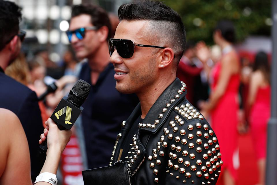 Anthony Callea arrives for the 31st Annual ARIA Awards 2017 at The Star on November 28, 2017 in Sydney, Australia