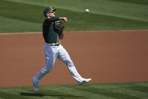 A's 3B Chapman needs hip surgery, to miss rest of season