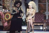 "<p>This doesn't happen every day! In 1987, Oprah stopped by Dolly's Variety show <em>Dolly!</em> <a href=""https://www.youtube.com/watch?v=pv_RdUqBkzA"" rel=""nofollow noopener"" target=""_blank"" data-ylk=""slk:for a duet."" class=""link rapid-noclick-resp"">for a duet.</a></p>"