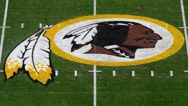 PHOTO: Washington Redskins logo at center field at FedExField in Landover, Md. (Patrick Mcdermott/Getty Images, File)